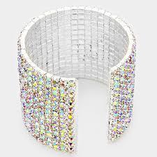 cuff bracelet from images 14 row rhinestone cuff bracelet focused fashions jpg