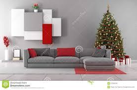 living room with christmas tree stock illustration image 57309159