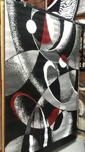 Black And White Modern Rug Abstract Contemporary 5x8 Black White Gray Area Rug Modern
