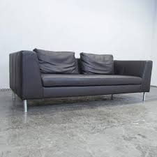edward schillig sofa ewald schillig back three seat leather sofa for sale at 1stdibs