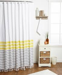 this zest yellow border stripe shower curtain by envogue is