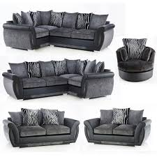 Black Corner Sofas 30 Best Ideas Of Corner Sofa And Swivel Chairs