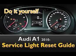 service light on car audi a1 service light maintenance oil life reset youtube