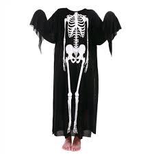 Halloween Skull Drawings Aliexpress Com Buy Horror Black Halloween Costume Ghost Skeleton