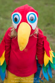 bird halloween mask sew an easy parrot costume make it and love it