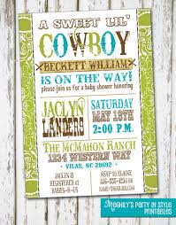 western boy baby shower invitation