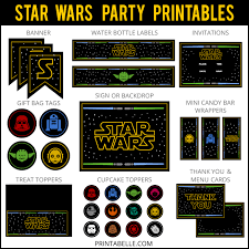 wars party wars party printable set party printables