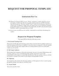 request proposal template