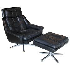 Vintage Brown Leather Chair Chair Vintage Brown Leather Lounge Chair And Ottoman From
