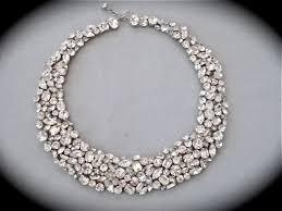 crystal rhinestone statement necklace images Swarovski crystal rhinestone statement necklace crystal wedding jpg