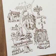 Map Wedding Invitations Illustrated Wedding Maps U2013 Karen Barkell Designs