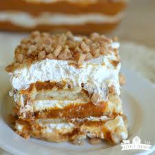 no bake pumpkin toffee icebox cake little dairy on the prairie