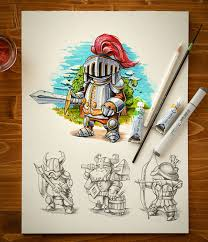 inspiring examples of character design u0026 sketching by mike
