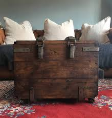 vintage trunk coffee table upcycled vintage trunk coffee table on wheels by bobo s beard