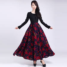 long cotton dresses with sleeves