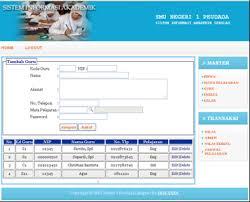 membuat database akademik dengan mysql source code aplikasi sistem informasi akademik sekolah menggunkan