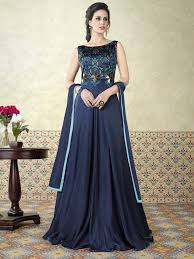 gown dress with price buy breathtaking navy blue modal satin partywear gown suit online