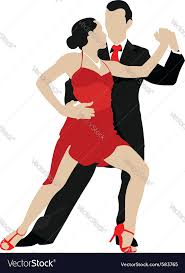 a couple dancing tango cartoon clipart vector toons ballroom dancing royalty free vector image vectorstock