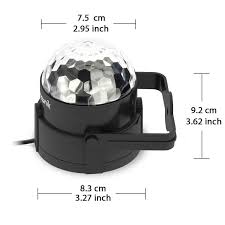 sound actived 3w led party lights ball with remote control zitronik