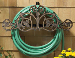 Garden Hose Hanger With Faucet Decorative Garden Hose Holders In Three Wonderful Finishes