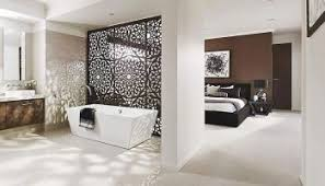 Modern Traditional Bedroom - small bedroom ensuite ideas with modern bathroom with door glass