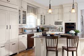 Woodmark Kitchen Cabinets Kitchen Wonderful L Shape Kitchen Decoration With Glass Cone