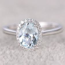 plain band engagement ring aquamarine engagement rings gold plain gold aquamarine