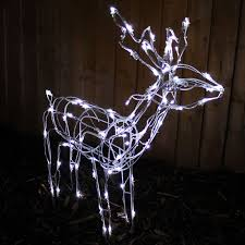 Lighted Santa And Reindeer Outdoor by Outdoor Lighted Animated Santa Claus On Wheels Exterior