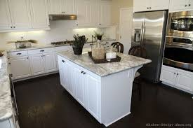 What Color Granite Goes With White Cabinets by Download Dark Wood Floors In Kitchen White Cabinets Gen4congress Com