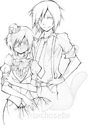 black butler anime coloring pages coloring pages pinterest