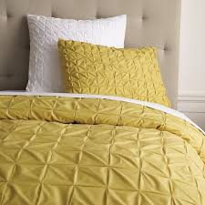 Yellow Duvet Cover King Square Tuck Duvet Cover Shams Dandelion West Elm
