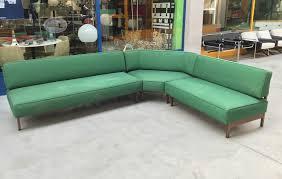 canap d angle vert canapé d angle modulaire mid century vert italie 1960s en vente