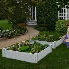 white vinyl raised garden bed 2 pack