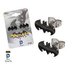 batman earrings blackline batman earrings tulsa jewelry