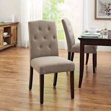furniture dark oak brown parsons dining chairs with tufted back decor