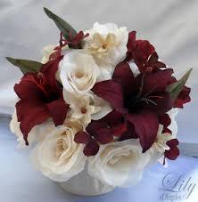 4 centerpieces wedding table decoration center flowers vase silk