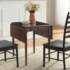 carolina cottage olivia dark brown drop leaf dining table 3046sq