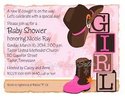 western themed baby shower invitations xyz