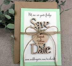 Wooden Wedding Gifts Save The Date Magnet Custom Save The Date Magnet Rustic Wedding