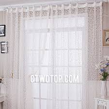 cheap half price faux silk patterned pure white sheer curtains