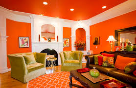 Interesting Living Room Paint Ideas Home Design Lover Orange - Orange living room design