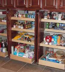 Kitchen Cabinets With Pull Out Shelves Shelf Pull Out Pantry With Maple Shelves For Tall Kitchen