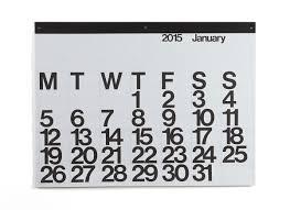 design wall calendar 2015 26 modern calendars for 2015 design milk oversized wall calendars