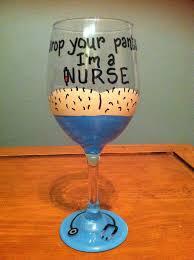 Graduation Wine Glasses 122 Best Painted Nurse Images On Pinterest Painted Wine Glasses