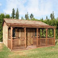 Outdoor Shed Kits by Shop Cedar Shed Fh1612 16 Ft X 12 Ft Farmhouse Shed At Lowe U0027s