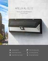 4702 Best Our Wedding Board Arilux Al Sl12 Solar Power 7w 80 Led Pir Sensor Light Outdoor