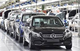 mercedes shares daimler shares rise after results boosted by mercedes sales and