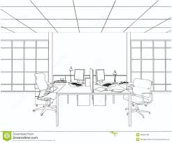 interior office rooms vector stock vector image 46532799