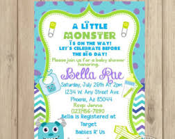 monsters inc baby shower ideas monsters inc baby shower invitations orionjurinform