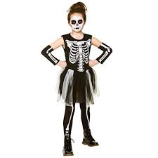 Skeleton Halloween Dress by Skelebones Girls Halloween Skeleton Fancy Dress Costume Ages 3 10